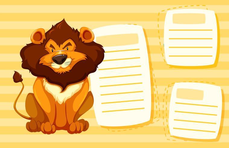 Lion Sur Le Modele De Note Telecharger Vectoriel Gratuit Clipart Graphique Vecteur Dessins Et Pictogramme Gratuit