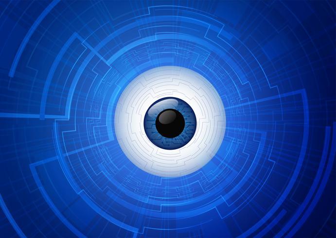 concept de communication technologie œil abstrait. vecteur