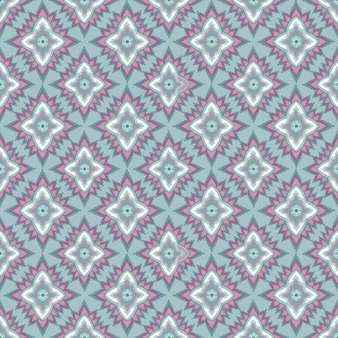 Modèle de mosaïque sans soudure Ornement floral abstrait Texture de tissu oriental vecteur