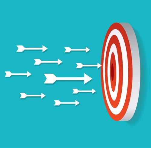 icône de la flèche sur le vecteur de tir à l'arc cible