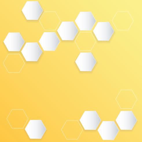 fond abstrait ruche d'abeille hexagonale vecteur