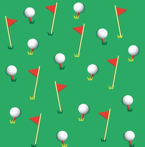Vecteur de fond balle de golf