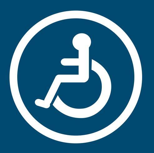 salle de bain pour personne handicapée, toilette handicapé vecteur