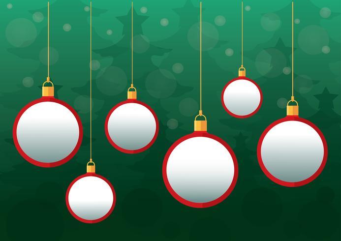 Fond de boules de Noël vecteur