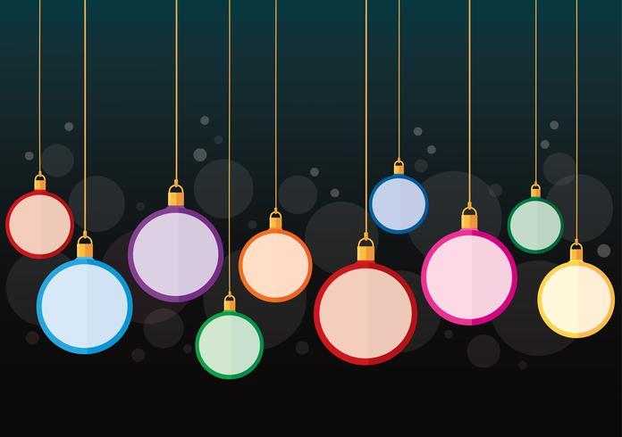 fond de boule de Noël coloré vecteur