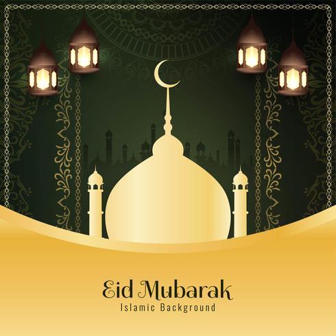 Abstrait religieux Eid Mubarak fond islamique vecteur