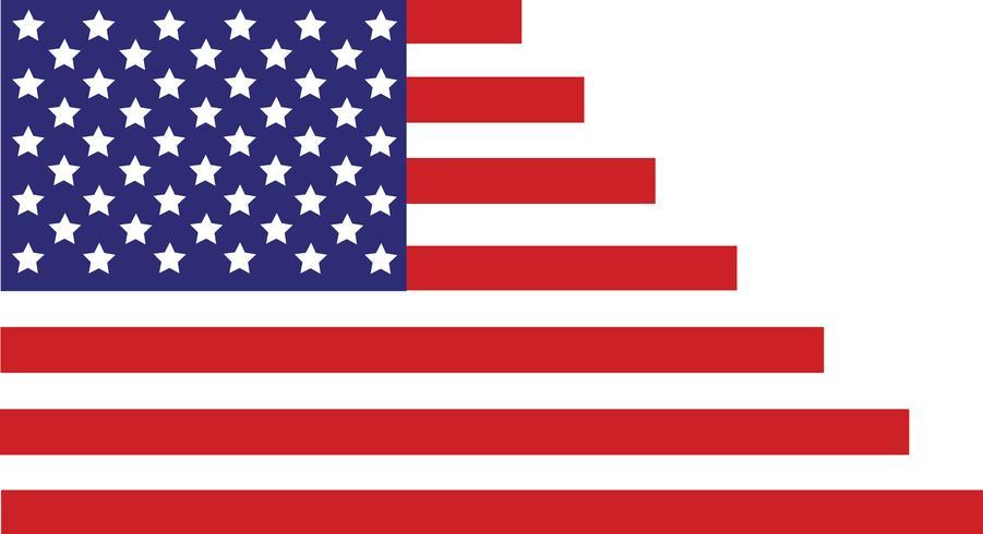Drapeau des États-Unis d'Amérique, drapeau des États-Unis, abstrait du drapeau de l'Amérique vecteur