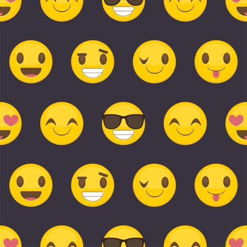 Fond transparent avec des smileys heureux positifs vecteur