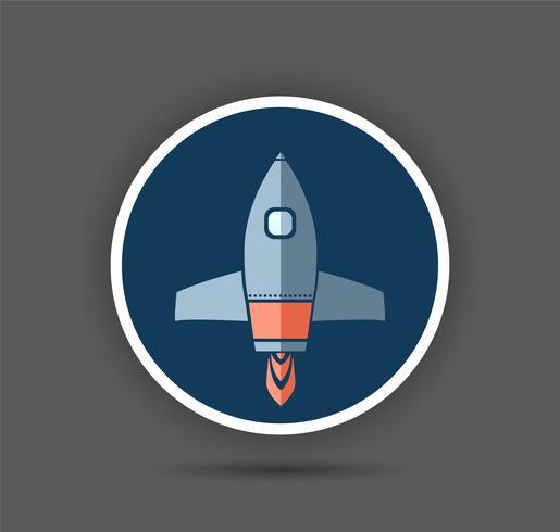 Fusée vaisseau spatial vecteur