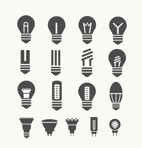 les lampes vecteur