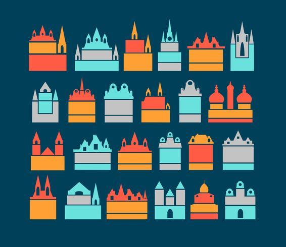 bâtiments de la ville vecteur