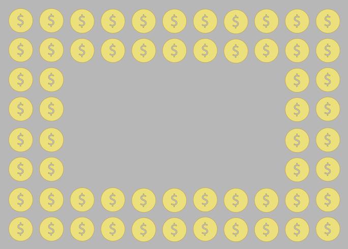pièce de monnaie, conception de l'argent et fond de l'espace vecteur