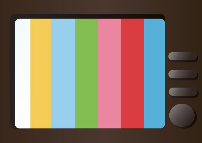télévision et vecteur d'espace vide