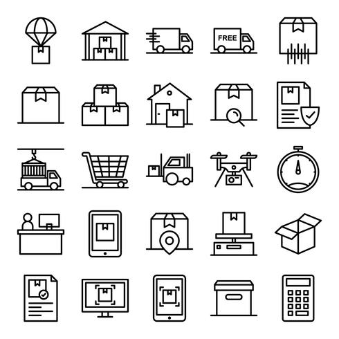 Pack d'icônes logistiques vecteur