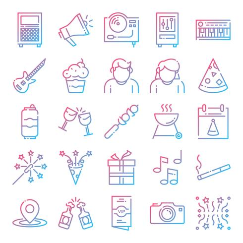 Party Icons Pack vecteur