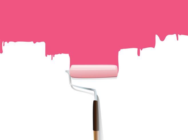 Paintbrush Peindre le mur vecteur