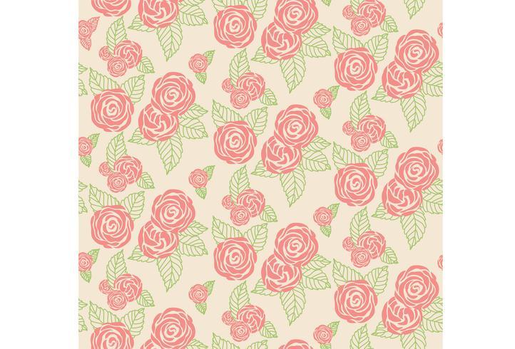 Texture d'impression florale vecteur