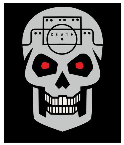 emblème avec crâne vecteur