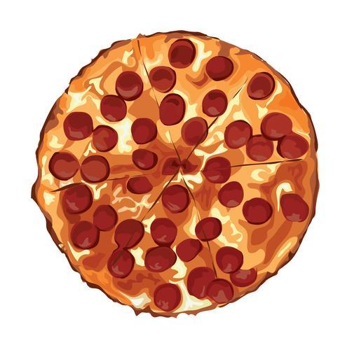 le dessin animé de la pizza vecteur