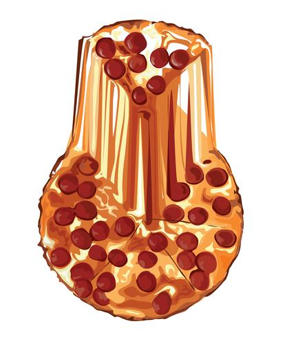 le vecteur de dessin animé de pizza