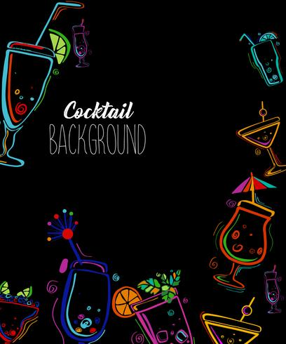 Illustration vectorielle de soirée cocktail. vecteur