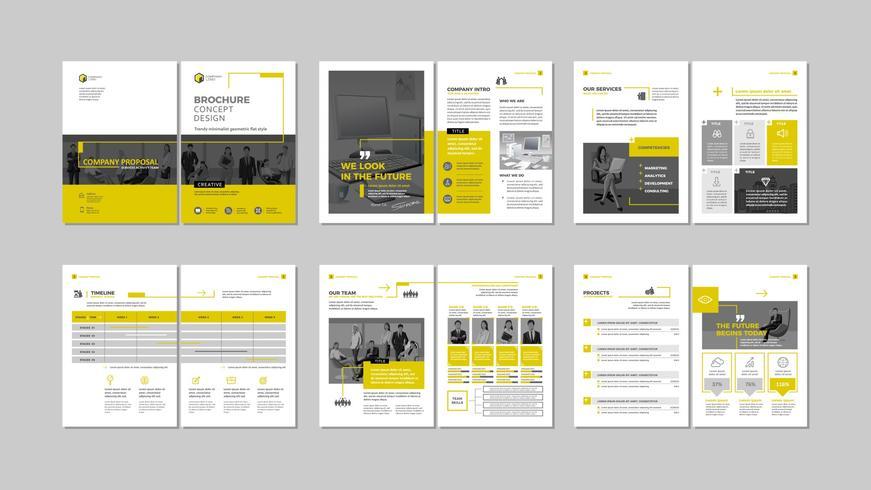 Brochure design créatif. vecteur