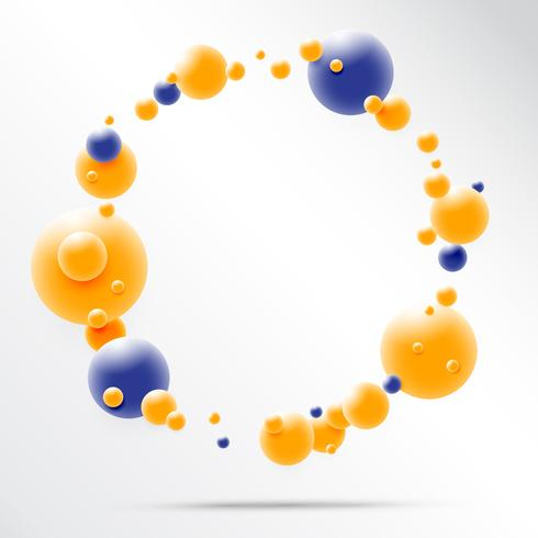 Conception 3D abstraite de sphère. Concept de molécules 3D, atomes. sur fond blanc vecteur