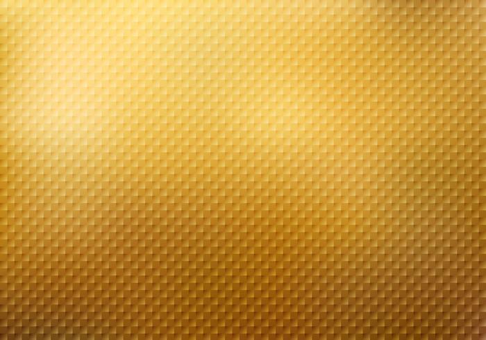 Texture motif abstrait carrés sur fond d'or vecteur