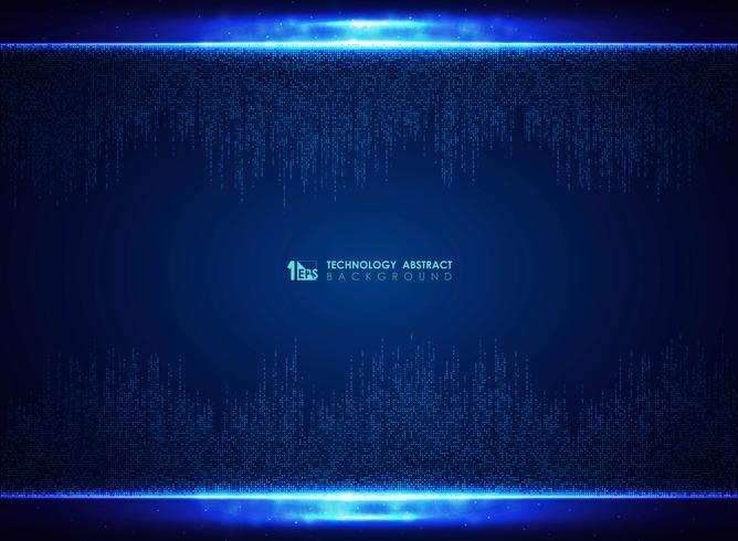 Fond de décoration technologie motif carré bleu. illustration vectorielle eps10 vecteur