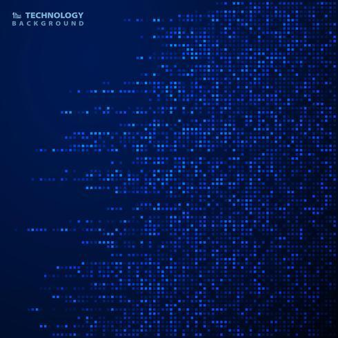 Modèle carré bleu futuriste de fond de couverture de décoration. illustration vectorielle eps10 vecteur
