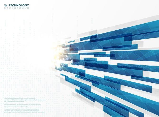 Lignes de bande abstraites technologie bleu carré géométriques avec décoration évasée. illustration vectorielle eps10 vecteur