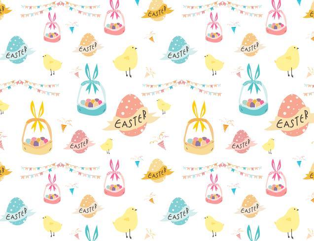 Joyeuses Pâques, mignon modèle de Pâques pour les enfants, illustration vectorielle. vecteur