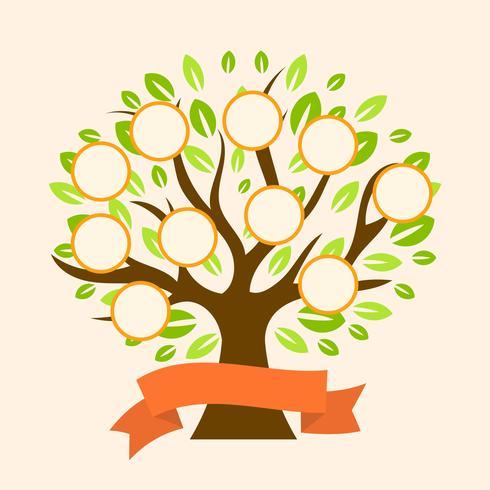 Modèle de vecteur plat arbre généalogique moderne