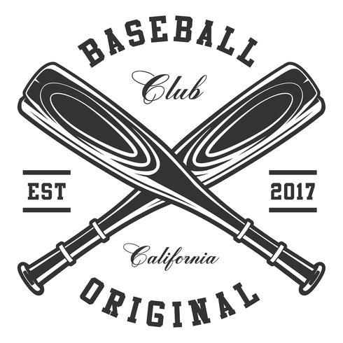 Des battes de baseball vecteur