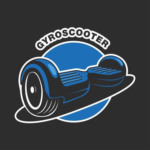 Logo du scooter électrique vecteur