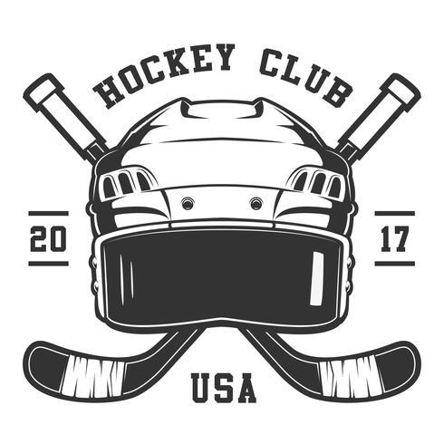 Casque de hockey vecteur