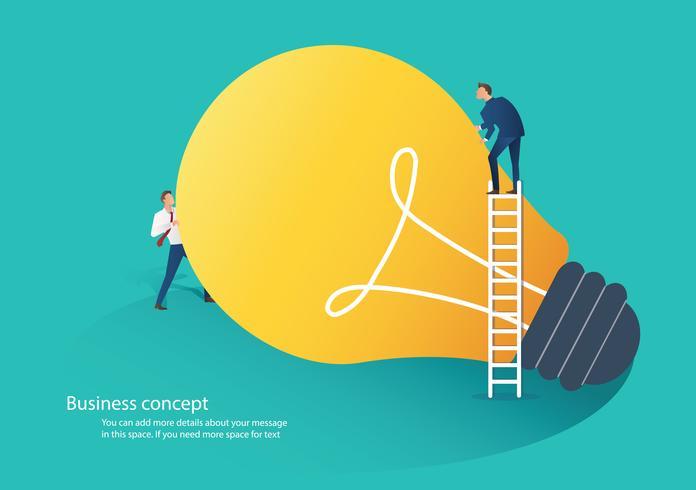 illustration vectorielle de gens d'affaires coopération idée concept vecteur
