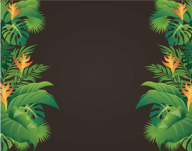 feuilles vertes design moderne et illustration vectorielle fond noir vecteur