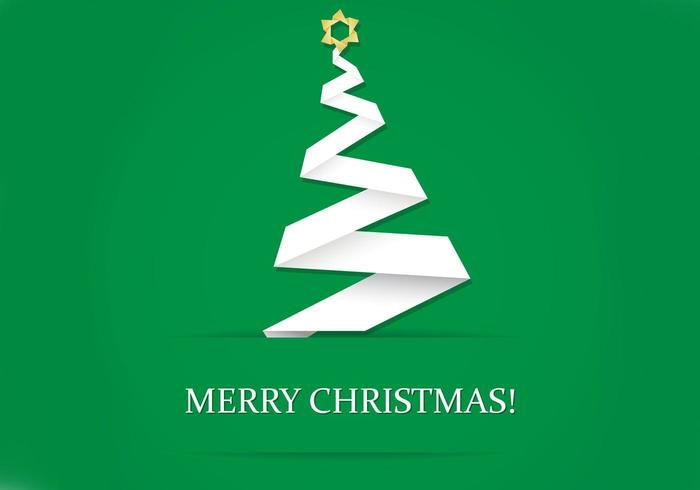 Origami Christmas Tree Wallpaper Vector