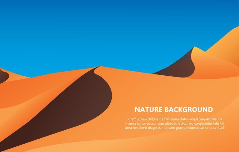 fond du désert avec illustration vectorielle de texte espace vecteur