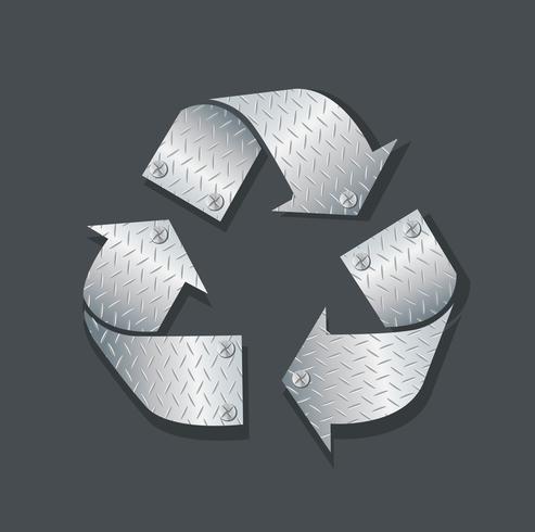 plaque métal recycler icône symbole illustration vectorielle vecteur