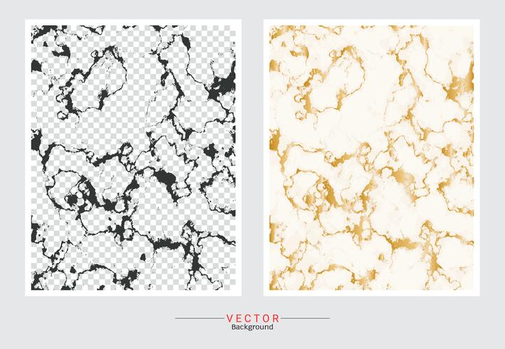 Marbre avec fond de texture dorée. vecteur