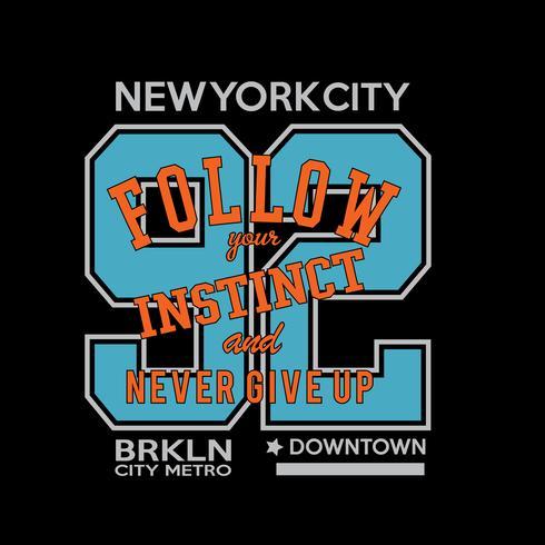 Typographie de remix de Brooklyn, graphiques de t-shirt, vecteurs vecteur