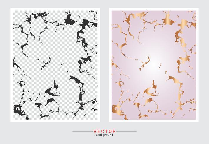 Fond de texture marbre or rose. vecteur