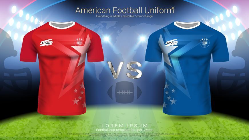 Uniforme de joueur de football américain. vecteur