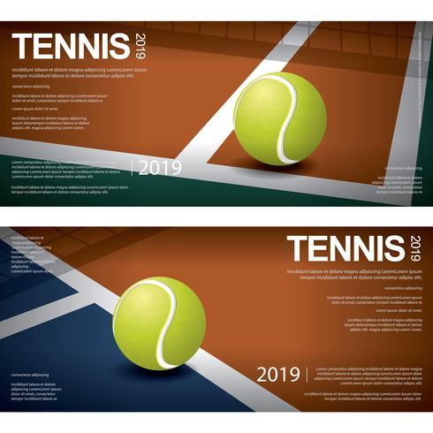 Illustration de vecteur affiche de championnat de tennis