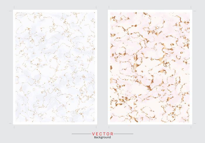 Fond de couverture en marbre doré. vecteur