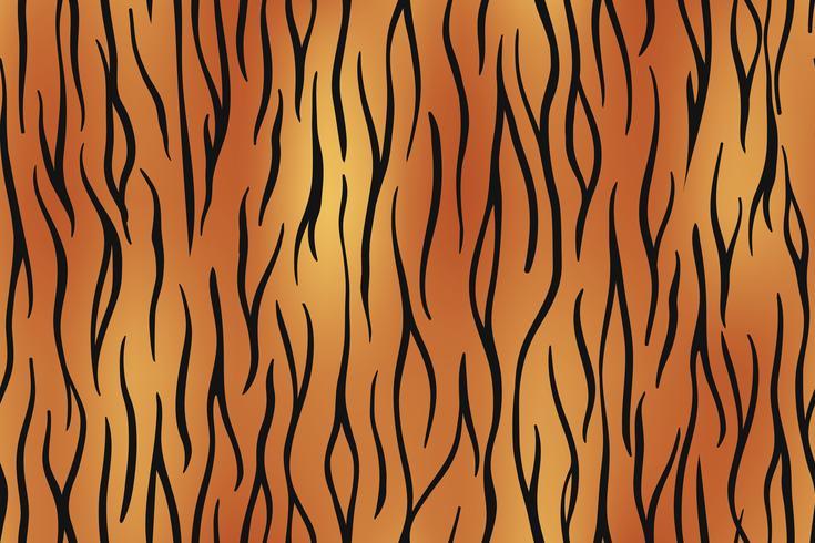 Peau de tigre sans soudure fond sur les arts graphiques vectoriels. vecteur
