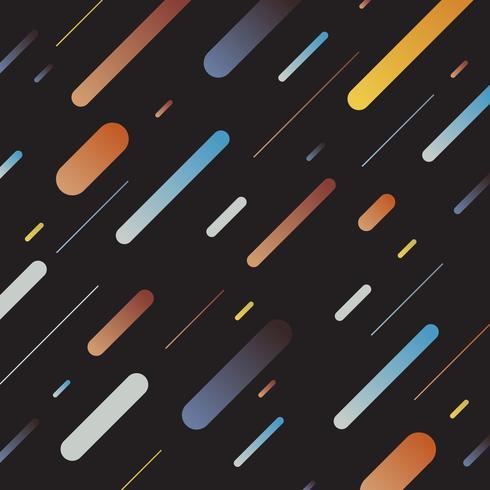 Lignes diagonales abstraites multicolore motif géométrique dynamique sur fond sombre. Style rétro vecteur