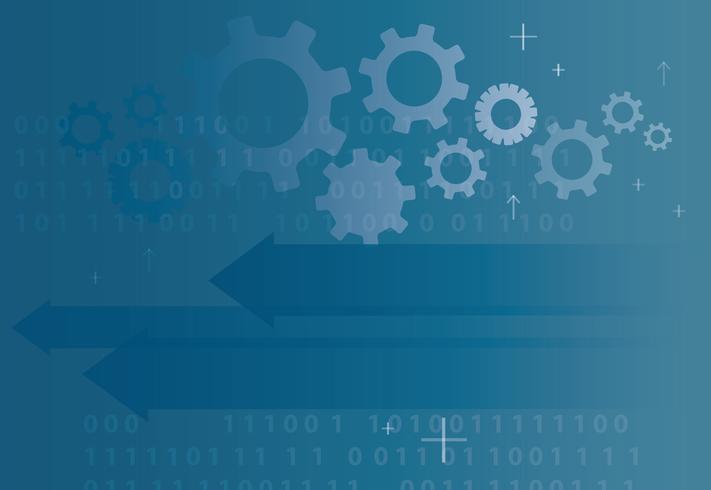 icône de flèche de technologie abstraite et programmation de code informatique codant fond concept hacker vecteur